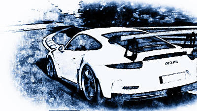 Painting - Porsche 997 Gt3 Rs - 05 by Andrea Mazzocchetti