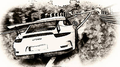 Painting - Porsche 997 Gt3 Rs - 06 by Andrea Mazzocchetti
