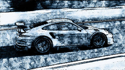 Painting - Porsche 997 Gt3 Rs - 08 by Andrea Mazzocchetti