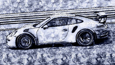 Painting - Porsche 997 Gt3 Rs - 09 by Andrea Mazzocchetti