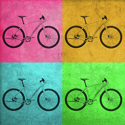 Bicycle Mixed Media - Porsche Bicycle Vintage Pop Art by Design Turnpike
