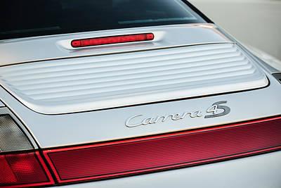 Photograph - Porsche Carrera 4s Taillight Emblem -1588c by Jill Reger