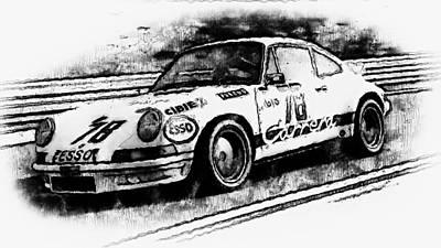 Painting - Porsche Carrera Rsr, 1973 - 01 by Andrea Mazzocchetti