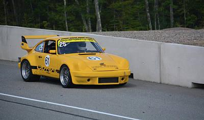 Photograph - Porsche Carrera Enters Track by Mike Martin