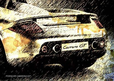 Porsche Carrera Gt Art Print by Pablo Franchi