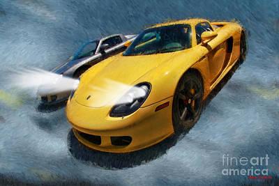 Photograph - Porsche Carrera Gt The Pair by Blake Richards