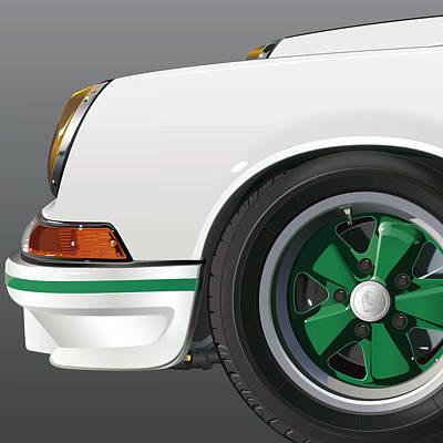 Circle Digital Art - Porsche Carrera Rs Detail by Alain Jamar