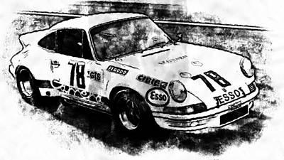 Painting - Porsche Carrera Rsr, 1973 - 02 by Andrea Mazzocchetti