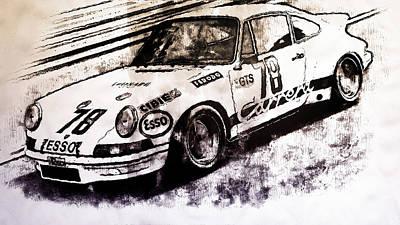 Painting - Porsche Carrera Rsr, 1973 - 04 by Andrea Mazzocchetti