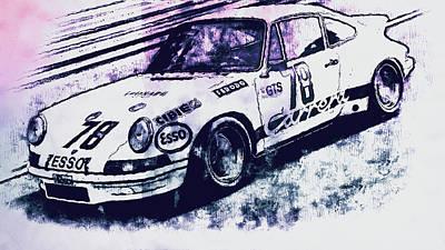 Painting - Porsche Carrera Rsr, 1973 - 05 by Andrea Mazzocchetti