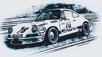 Painting - Porsche Carrera Rsr, 1973 - 06 by Andrea Mazzocchetti