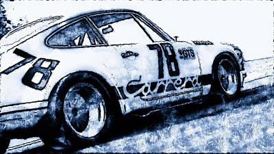 Painting - Porsche Carrera Rsr, 1973 - 07 by Andrea Mazzocchetti