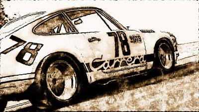 Painting - Porsche Carrera Rsr, 1973 - 08 by Andrea Mazzocchetti