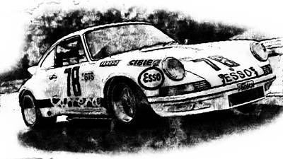 Painting - Porsche Carrera Rsr, 1973 - 09 by Andrea Mazzocchetti