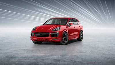 Digital Art - Porsche Cayenne by Maye Loeser