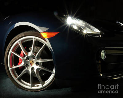 Photograph - Porsche Cayman S Night Detail by David Chalker