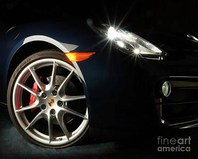 Porsche Cayman S Night Detail Art Print