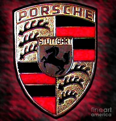 Smooth Ride Photograph - Porsche Emblem by George Pedro