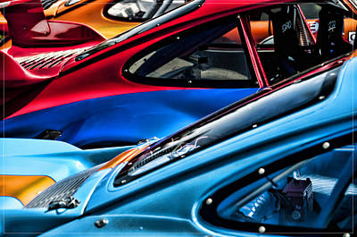 Photograph - Porsche Fins by Barry C Donovan