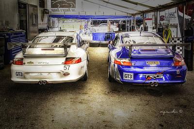 Porsche G T 3 _ Mid Ohio Raceway Art Print by Michael Rankin