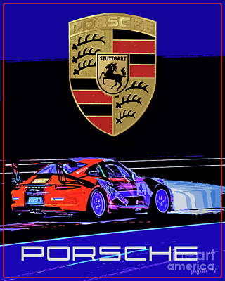 Photograph - Porsche Gt Poster by Tom Griffithe