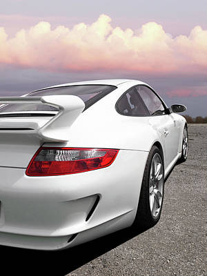 Porsche Gt3 Cs At Sunset Art Print by Gill Billington