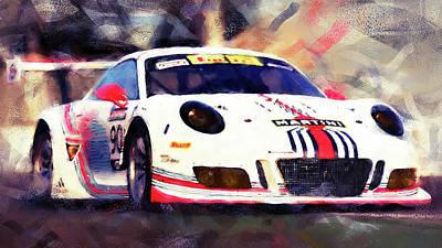 Porsche Gt3 Martini Racing - 04 Art Print by Andrea Mazzocchetti