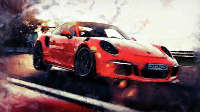 Painting - Porsche Gt3 Rs - 02 by Andrea Mazzocchetti