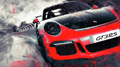 Painting - Porsche Gt3 Rs - 03 by Andrea Mazzocchetti