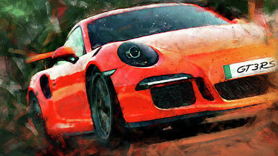 Painting - Porsche Gt3 Rs - 04 by Andrea Mazzocchetti