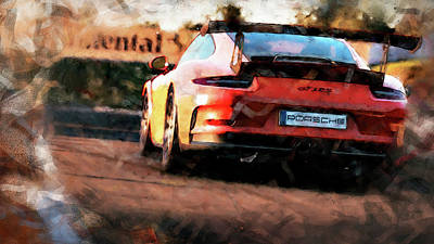 Painting - Porsche Gt3 Rs - 05 by Andrea Mazzocchetti