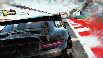 Painting - Porsche Gt3 Rs - 06 by Andrea Mazzocchetti