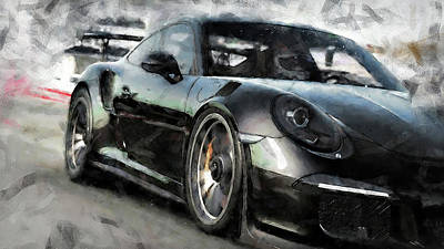 Painting - Porsche Gt3 Rs - 07 by Andrea Mazzocchetti