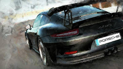 Painting - Porsche Gt3 Rs - 08 by Andrea Mazzocchetti