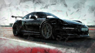 Painting - Porsche Gt3 Rs - 09 by Andrea Mazzocchetti