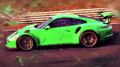 Painting - Porsche Gt3 Rs - 10 by Andrea Mazzocchetti