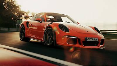 Photograph - Porsche Gt3 Rs - 4 by Andrea Mazzocchetti