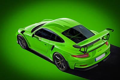 Digital Art - Porsche Gt3rs by Roger Lighterness
