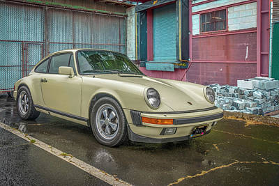 Photograph - Porsche In Alley by Bill Posner