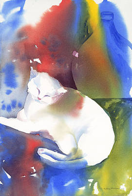 Painting - Porsche Le Vieux Cat by Tara Moorman