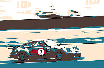 912 Photograph - Porsche Number 7 Racing At Zandvoort by 2bhappy4ever