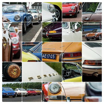 Photograph - Porsche Oldtimer Collage by 2bhappy4ever