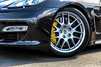 Photograph - Porsche Panamera Front Wheel by 2bhappy4ever