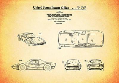 Wall Art - Photograph - Porsche Patent 1964 by Mark Rogan