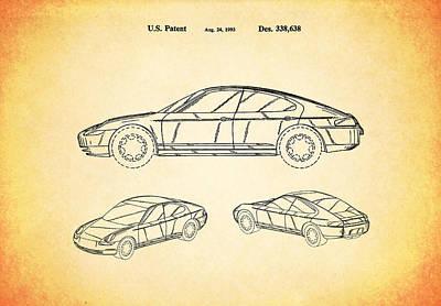 Wall Art - Photograph - Porsche Patent 1993 by Mark Rogan