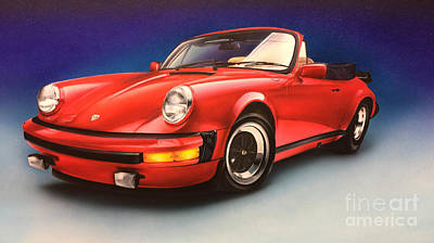 Painting - Porsche by Pete Sintes