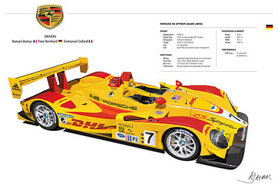 Porsche Poster Rs Spyder Print by Alain Jamar