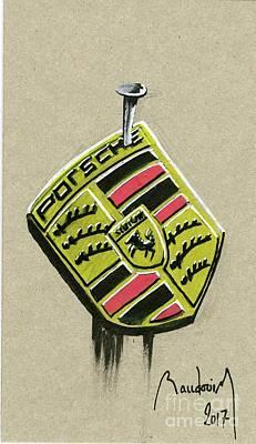 919 Painting - Porsche Quits Wec by Alain Baudouin