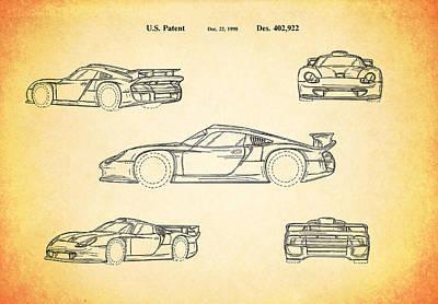 Wall Art - Photograph - Porsche Racing Car Patent 1998 by Mark Rogan