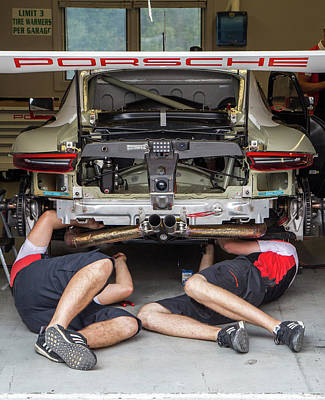 Photograph - Porsche Repair by Alan Raasch